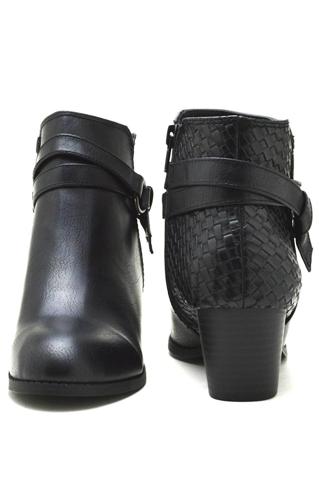 City Classified Woven Back-Belted Booties - Back Cropped Image