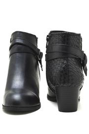 City Classified Woven Back-Belted Booties - Back cropped