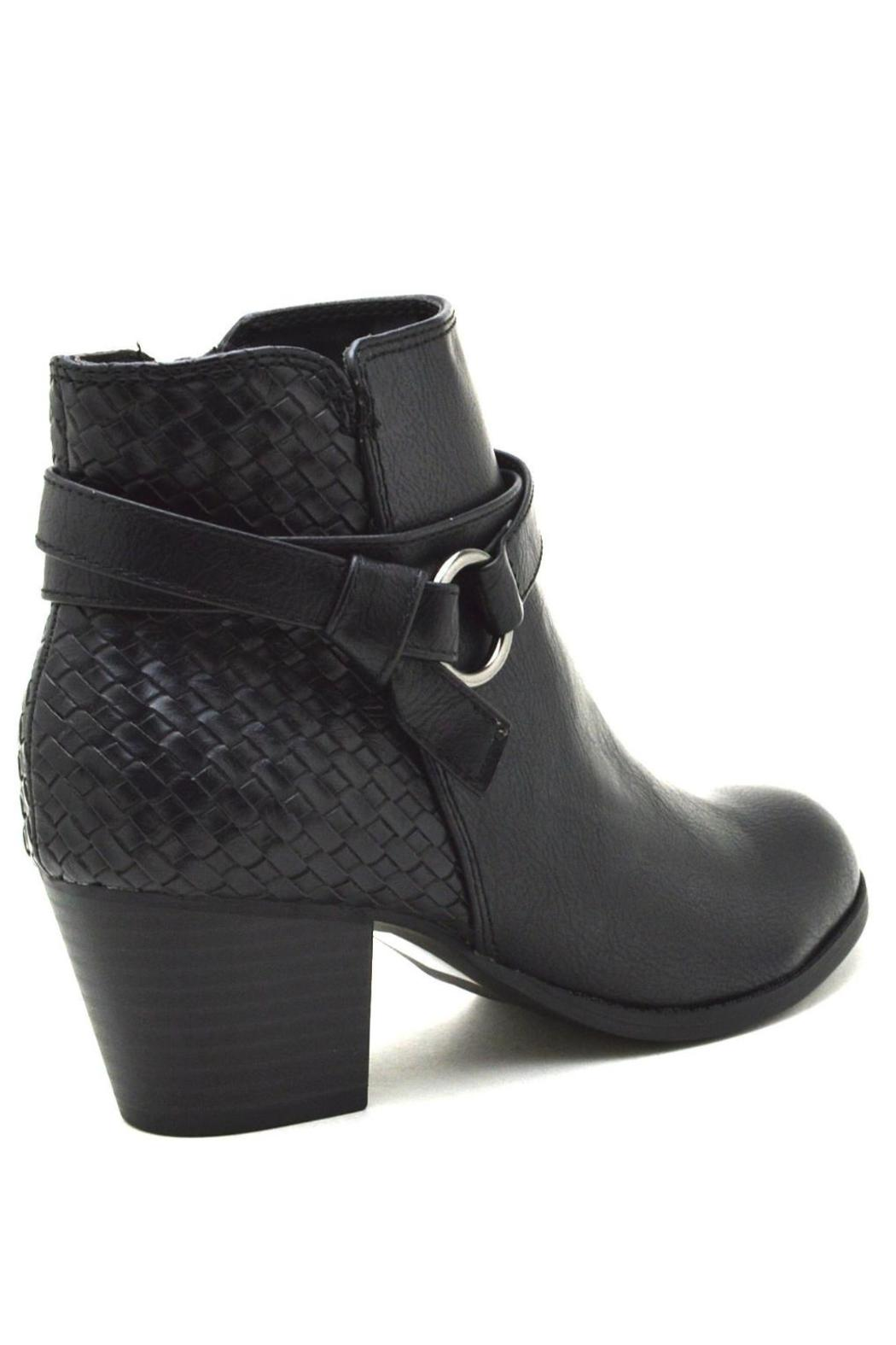 City Classified Woven Back-Belted Booties - Front Full Image