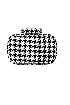 Shoptiques Product: Houndstooth Print Clutch