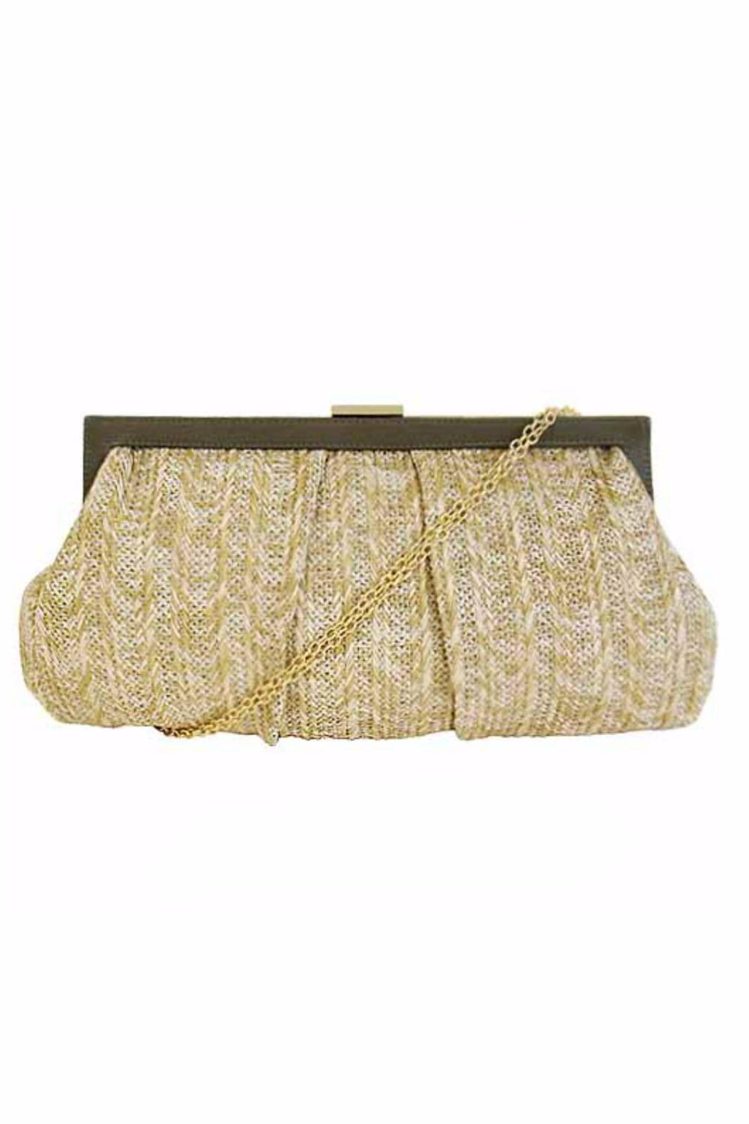 City Design Group Straw Fabric Clutch - Main Image