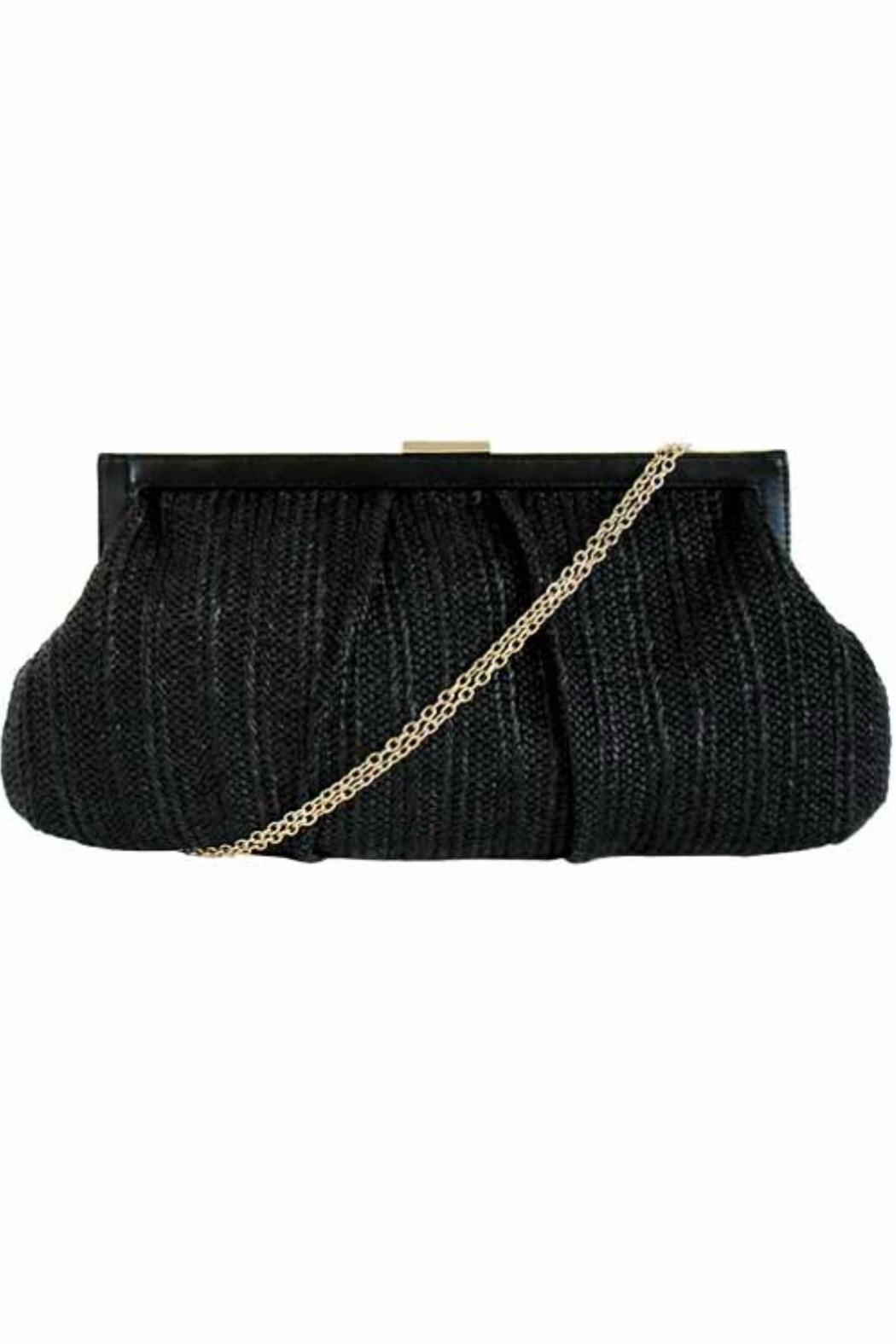 City Design Group Straw Fabric Clutch - Front Cropped Image