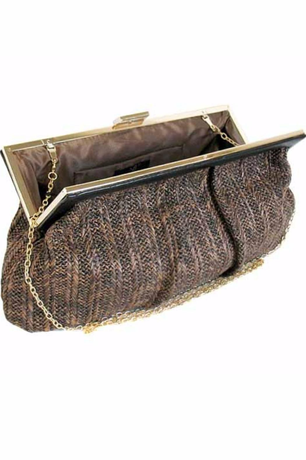 City Design Group Straw Fabric Clutch - Front Full Image