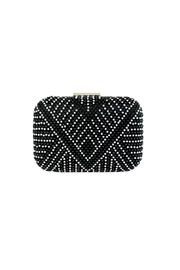 City Design Group Studded Print Clutch - Front cropped