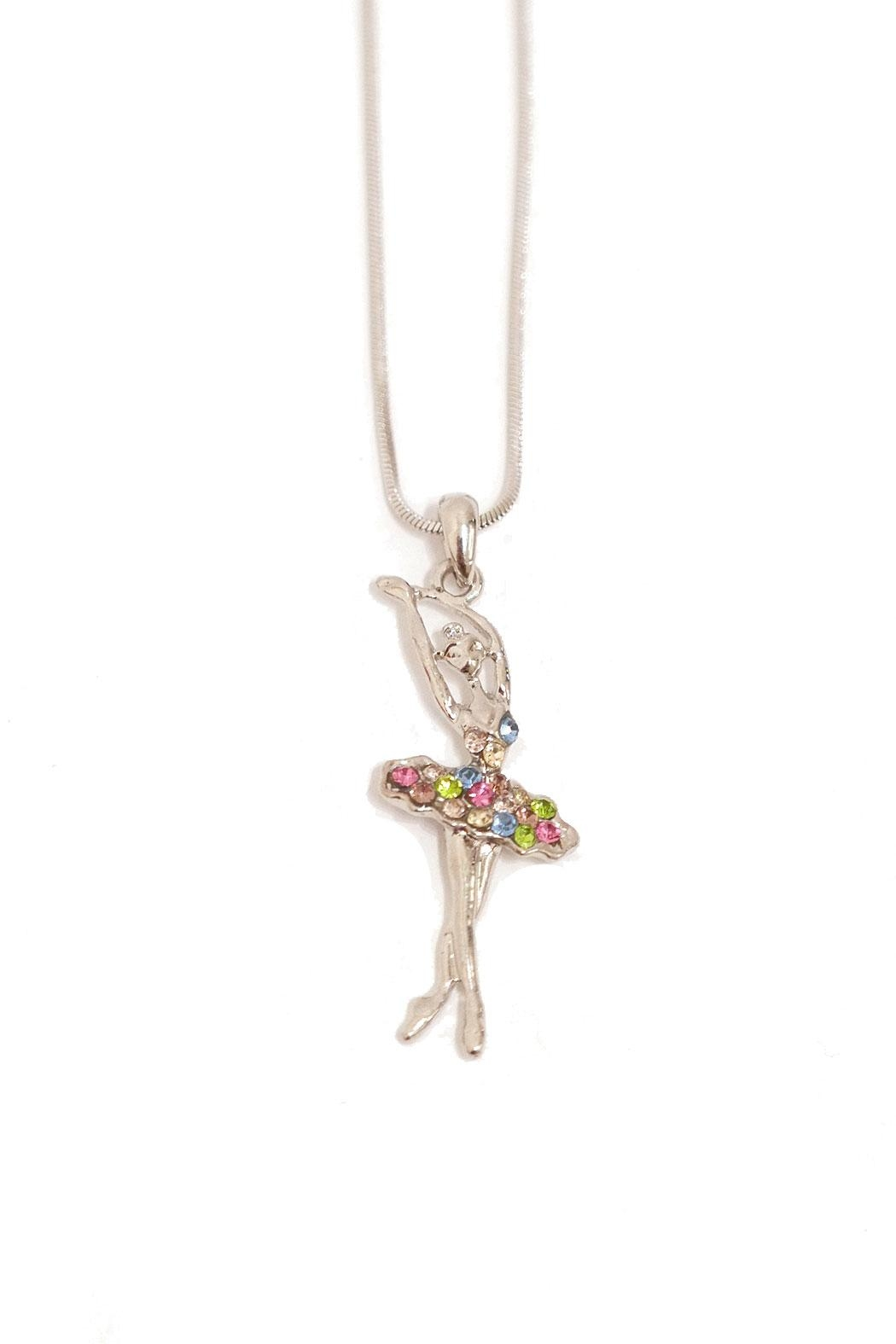 Cj mercantile jeweled ballerina necklace from massachusetts by sugar cj mercantile jeweled ballerina necklace front cropped image aloadofball Images