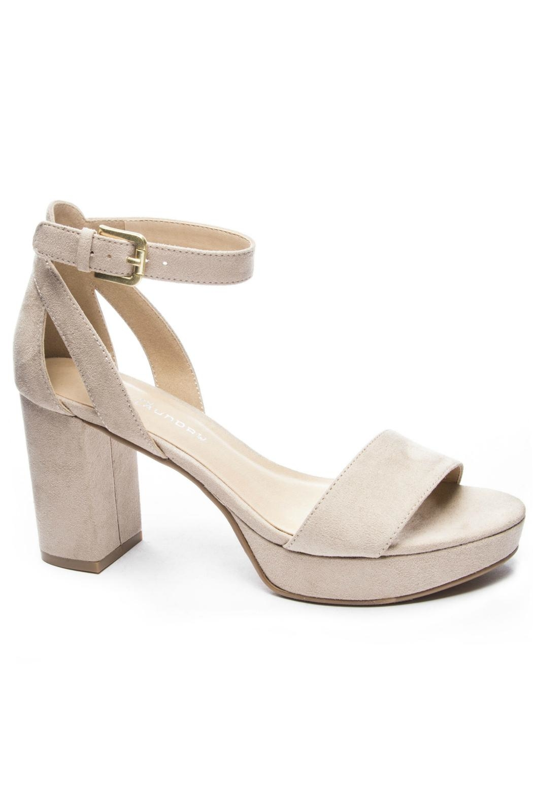CL by Chinese Laundry Super Suede Chunky Heels - Main Image