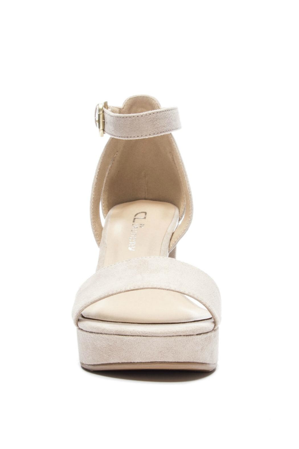 CL by Chinese Laundry Super Suede Chunky Heels - Back Cropped Image