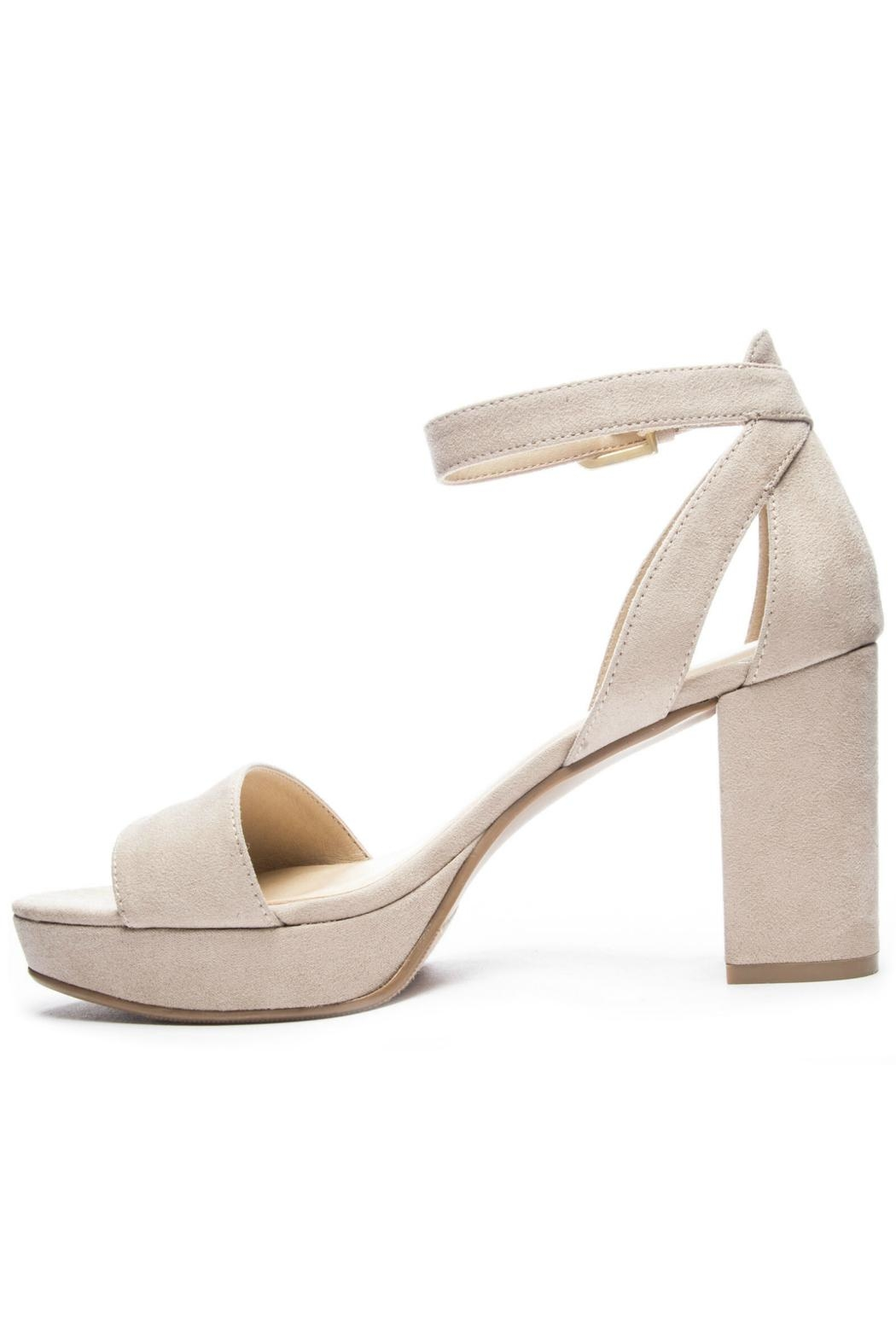 CL by Chinese Laundry Super Suede Chunky Heels - Side Cropped Image