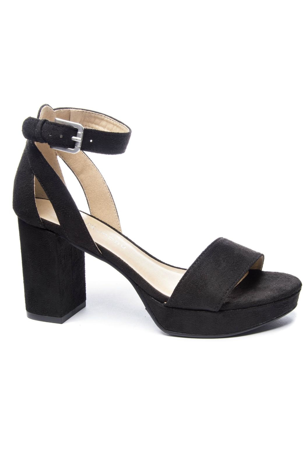 CL by Chinese Laundry Super Suede Chunky Heels - Front Cropped Image