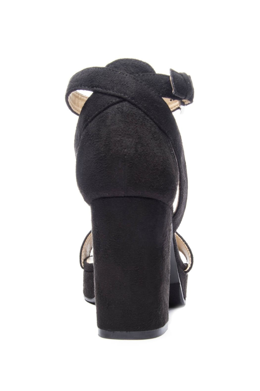 CL by Chinese Laundry Super Suede Chunky Heels - Front Full Image
