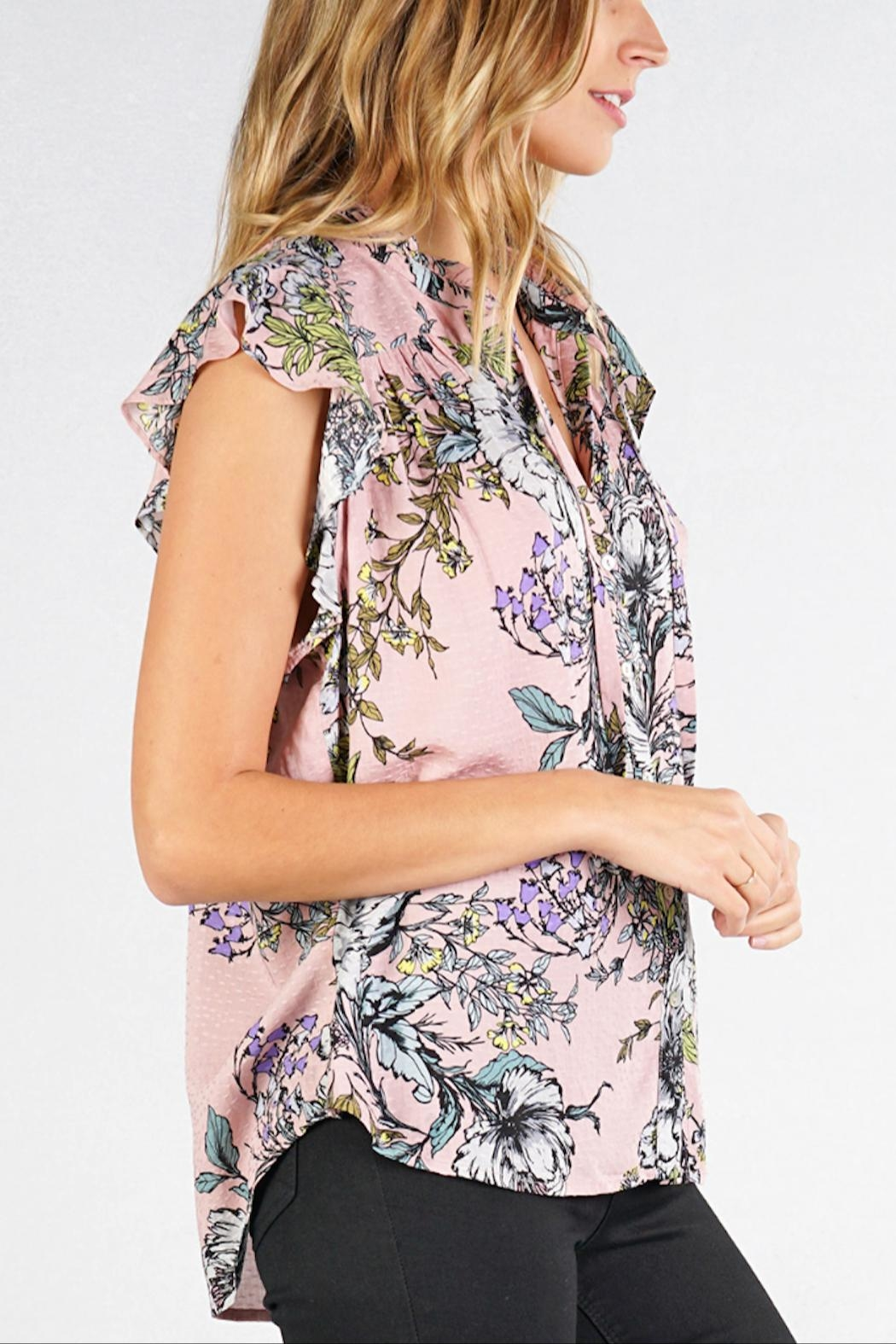 Love Stitch Claire Blouse - Side Cropped Image