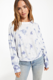 z supply Claire Cloud Tie-Dye Top - Product Mini Image
