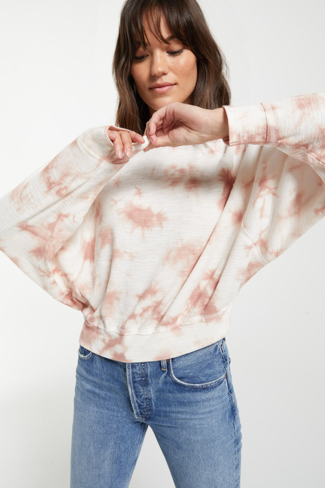 z supply Claire Cloud Tie-Dye Top - Side Cropped Image