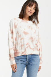 z supply Claire Cloud Tie-Dye Top - Front cropped