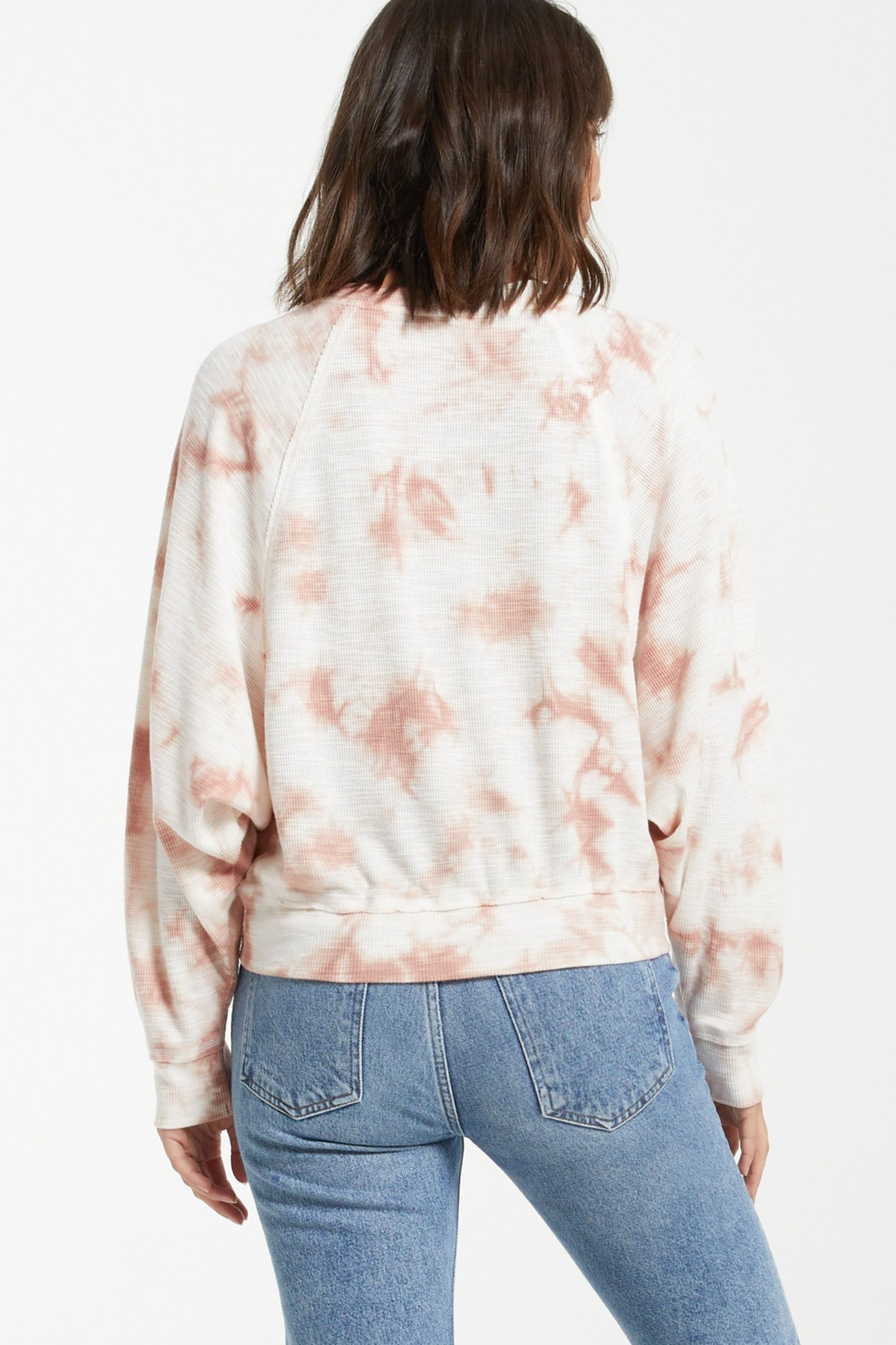 z supply Claire Cloud Tie-Dye Top - Back Cropped Image