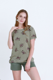 another love  Claire Floral Shredded Tee - Product Mini Image