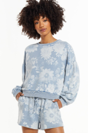 z supply Claire Floral Sweatshirt - Product Mini Image