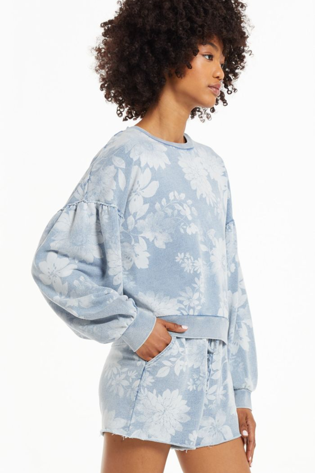 z supply Claire Floral Sweatshirt - Front Full Image