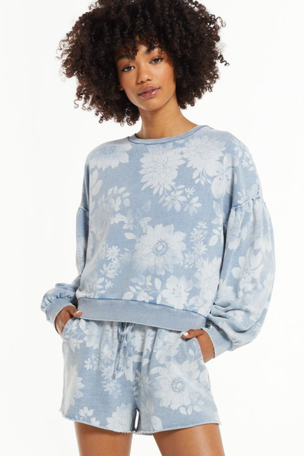 z supply Claire Floral Sweatshirt - Main Image