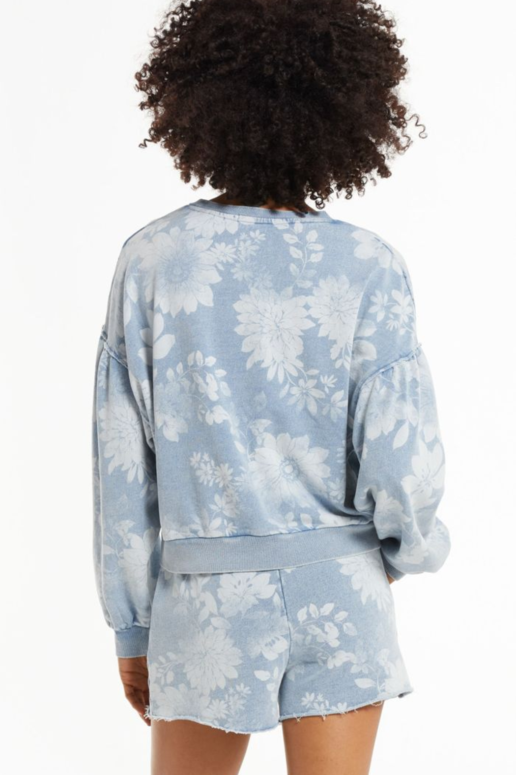 z supply Claire Floral Sweatshirt - Back Cropped Image