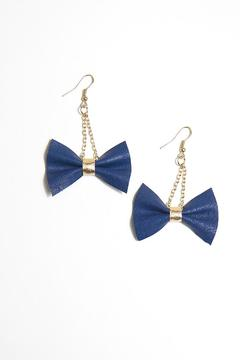Shoptiques Product: Navy Bow Earring