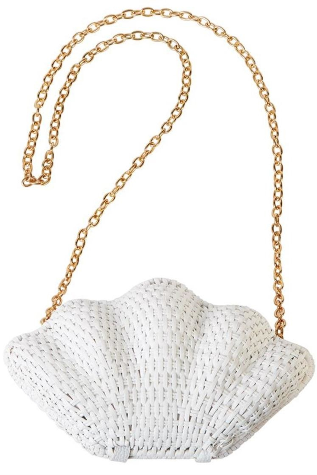 Mud Pie Clam Rattan Clutch - Front Cropped Image