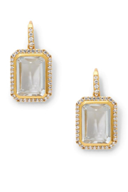 The Birds Nest CLARA LUXE EARRINGS-CLEAR CRYSTAL - Product Mini Image