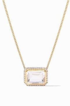 Julie Vos CLARA LUXE NECKLACE-CLEAR CRYSTAL - Alternate List Image