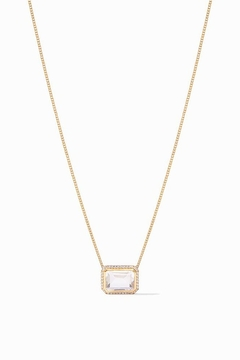 Julie Vos CLARA LUXE NECKLACE-CLEAR CRYSTAL - Product List Image