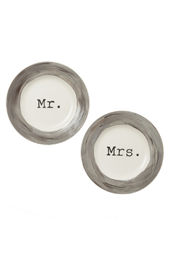 Shoptiques Product: Mr. & Mrs. Dinner Plates