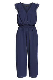 Adelyn Rae Clara Ruffle Sleeve Chiffon Jumpsuit - Other