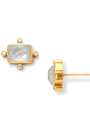 Julie Vos Clara Stud Gold Iridescent Clear Crystal - Product Mini Image