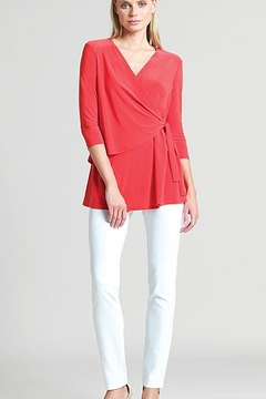 Clara Sunwoo Clara Sunwoo Coral Soft Knit Side Tie Tunic 1307 - Product List Image