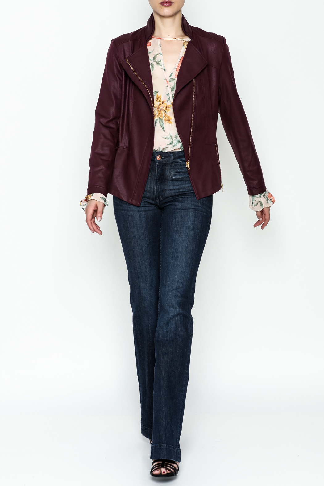 Clara Sunwoo Liquid Leather Jacket - Side Cropped Image