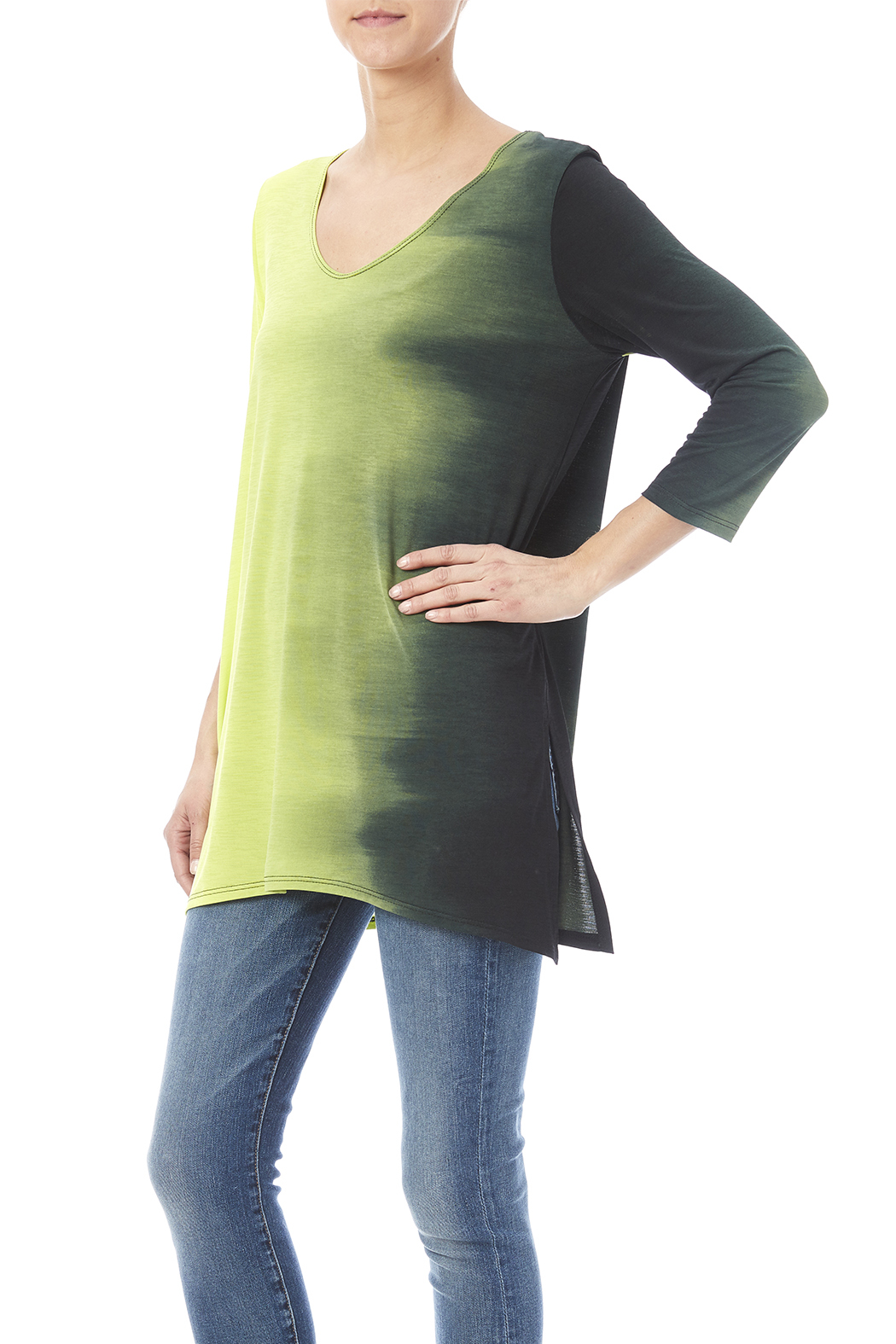 Clara Sunwoo Ombre Side Tunic - Front Cropped Image
