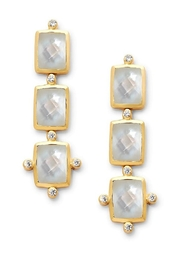 Julie Vos Clara Tier Earring Gold Iridescent Clear Crystal - Product Mini Image