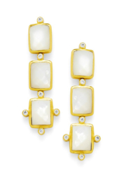 Julie Vos CLARA TIER EARRINGS-IRIDESCENT CLEAR CRYSTAL - Product Mini Image