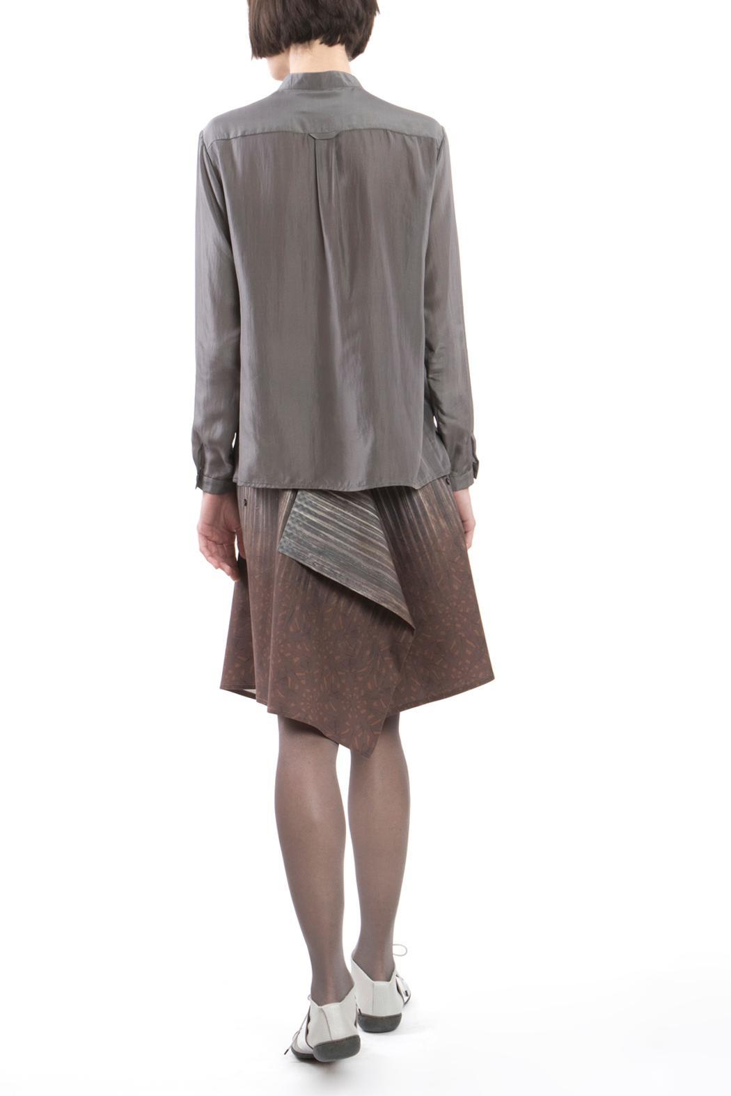 Clara Kaesdorf Blouse Grey Silk - Side Cropped Image