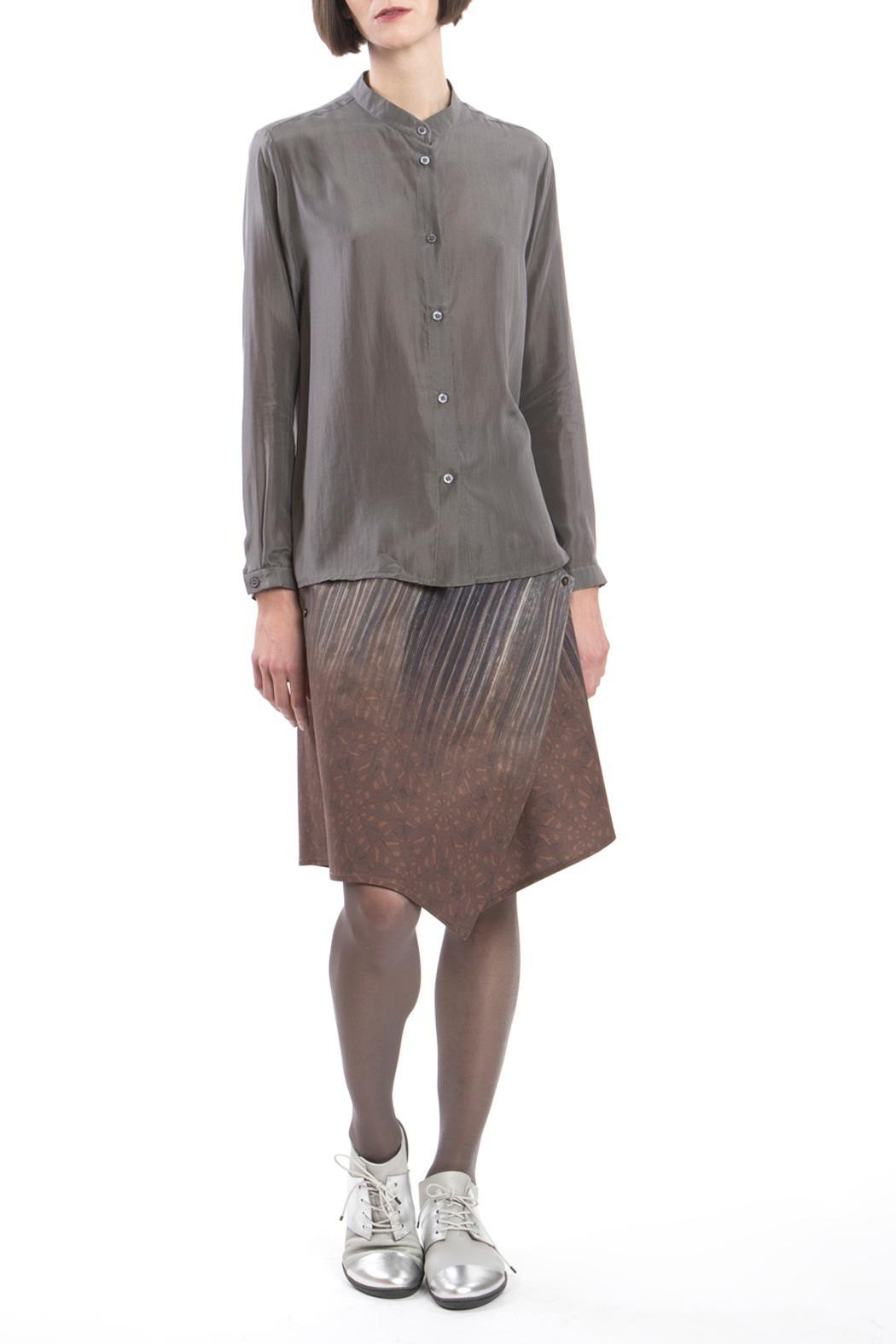 Clara Kaesdorf Blouse Grey Silk - Main Image