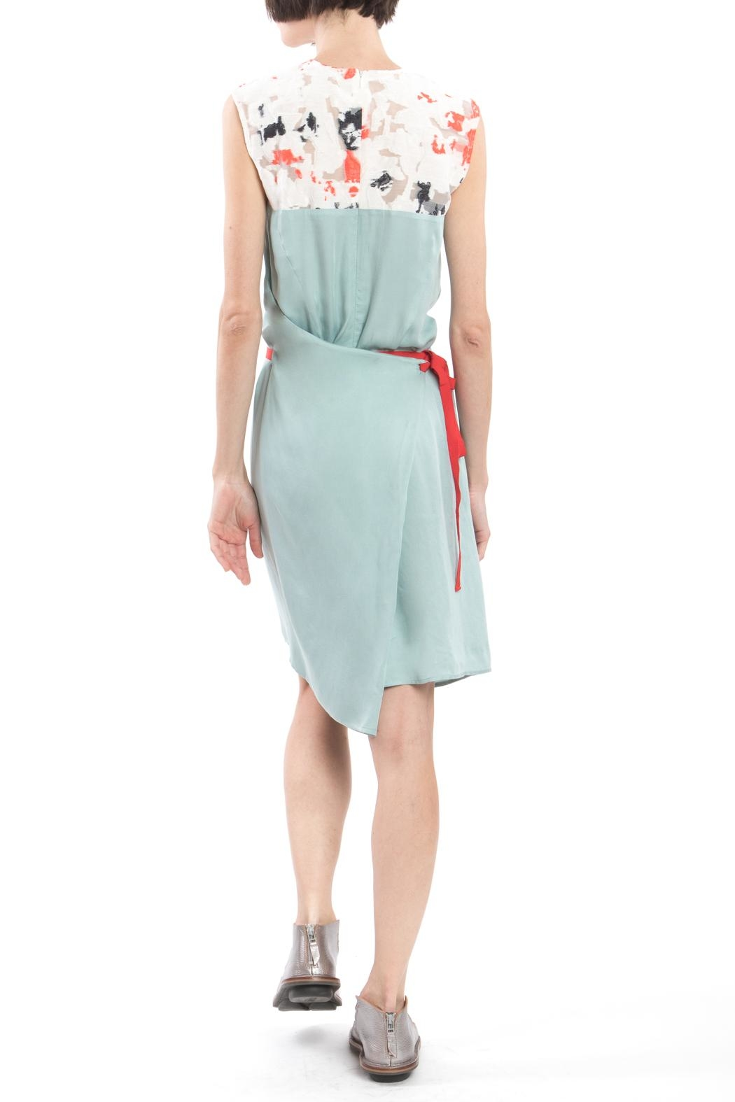 Clara Kaesdorf Changeable Dress Green - Back Cropped Image