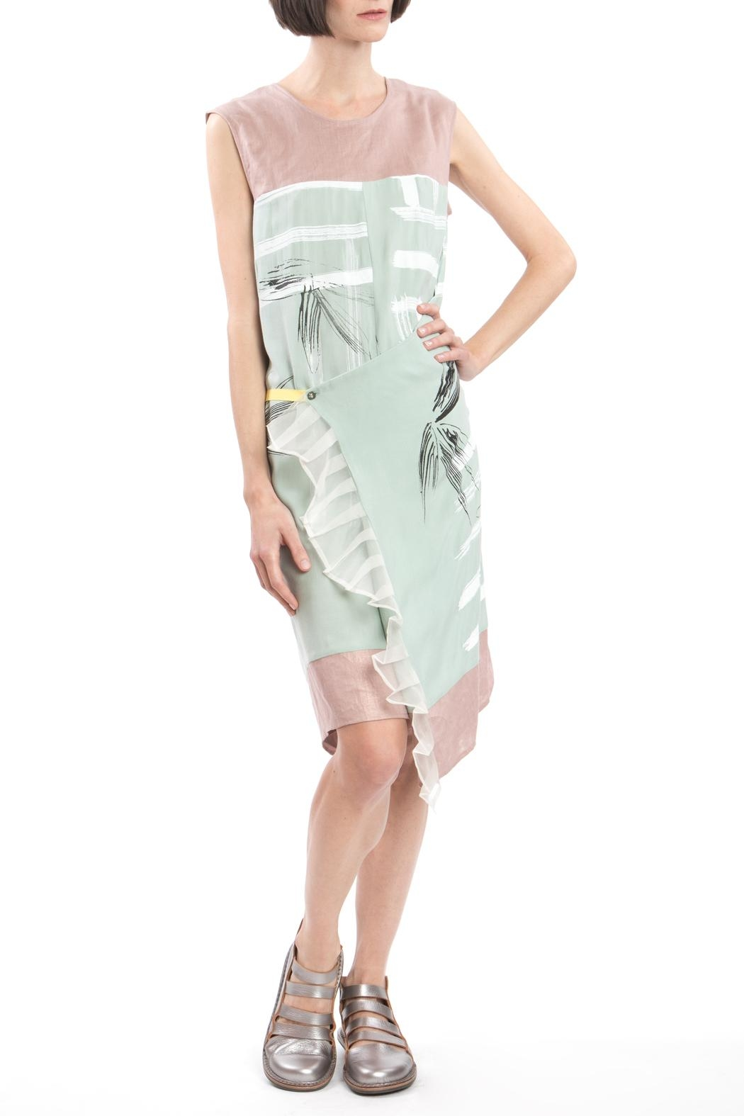 Clara Kaesdorf Green Pink Changeable Dress - Back Cropped Image