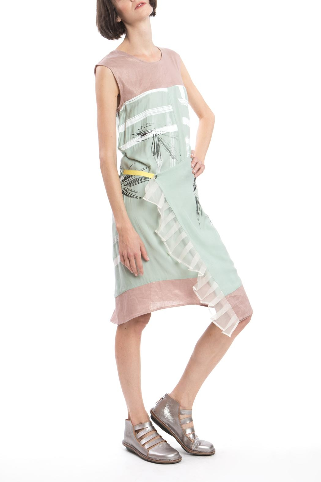 Clara Kaesdorf Green Pink Changeable Dress - Side Cropped Image