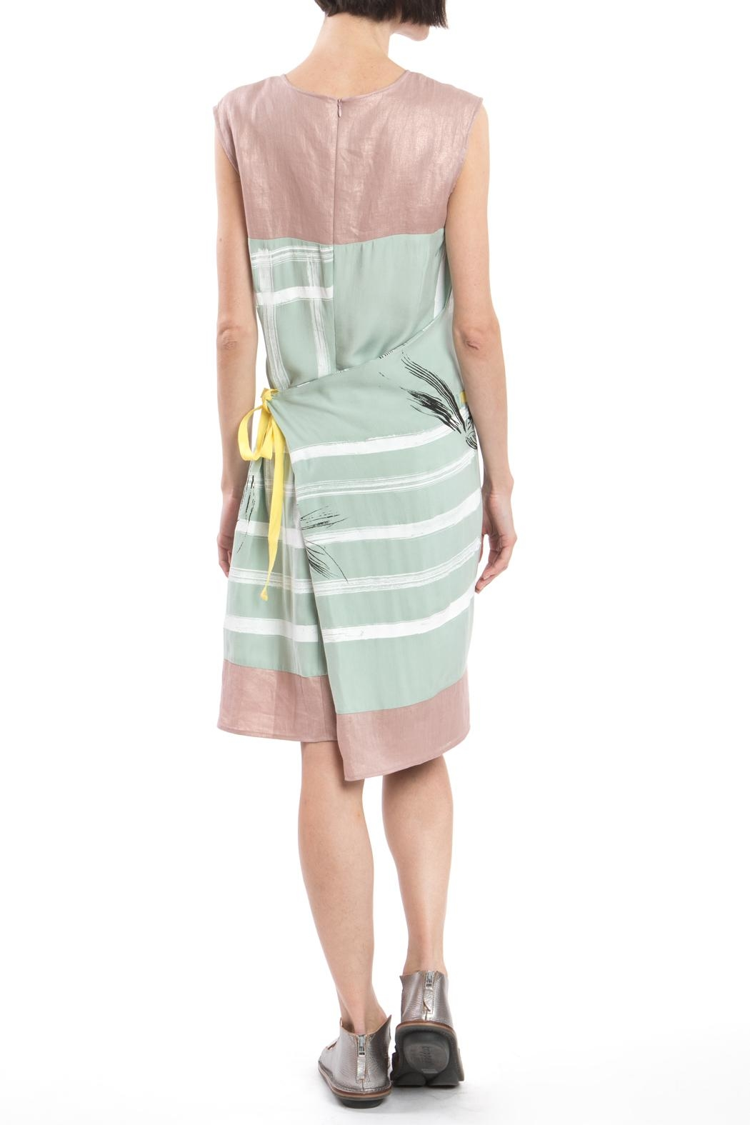 Clara Kaesdorf Green Pink Changeable Dress - Front Full Image