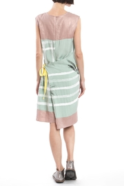 Clara Kaesdorf Green Pink Changeable Dress - Front full body
