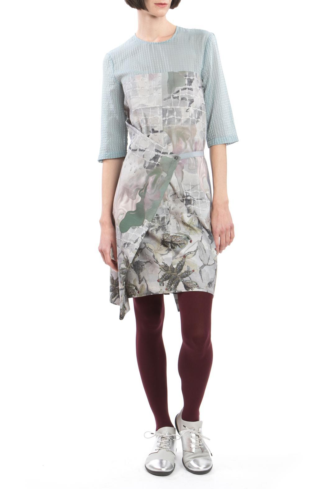 Clara Kaesdorf Changeable Dress Grey Blue - Front Full Image