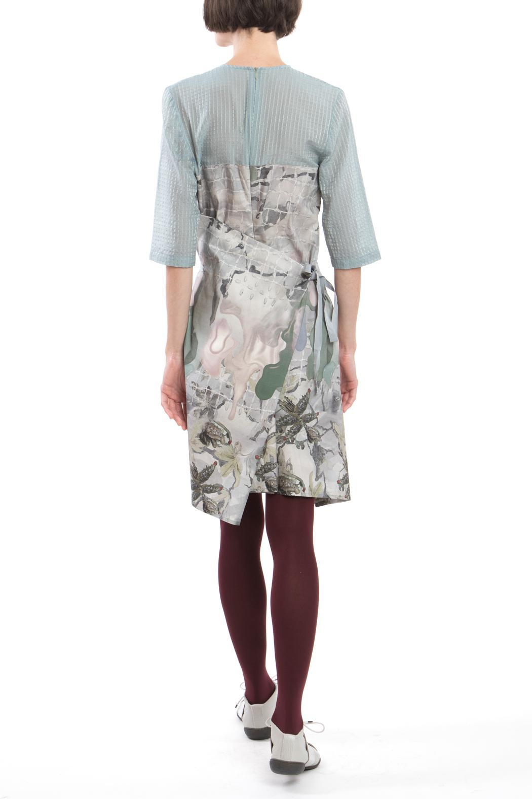 Clara Kaesdorf Changeable Dress Grey Blue - Side Cropped Image