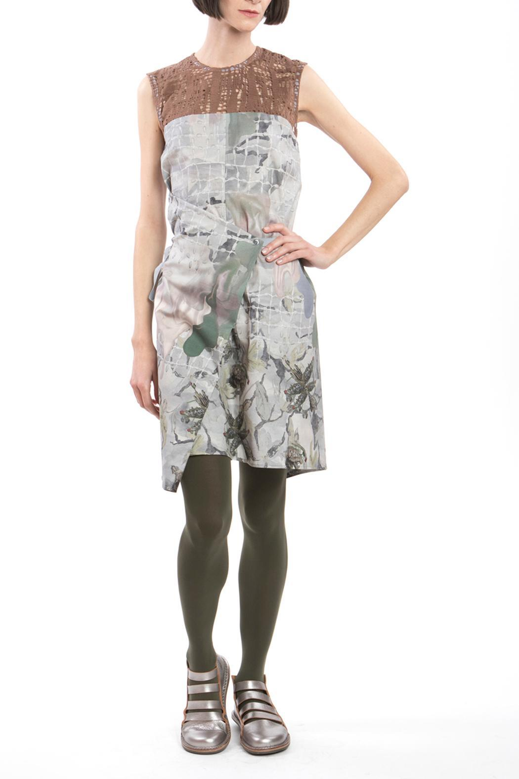 Clara Kaesdorf Changeable Dress Grey Brown - Side Cropped Image