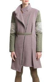 Clara Kaesdorf Coat Pink Green - Product Mini Image