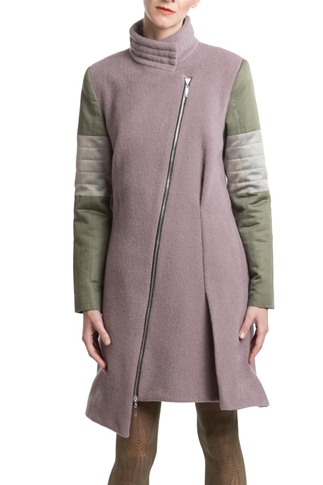 Clara Kaesdorf Coat Pink Green - Side Cropped Image
