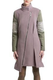 Clara Kaesdorf Coat Pink Green - Side cropped
